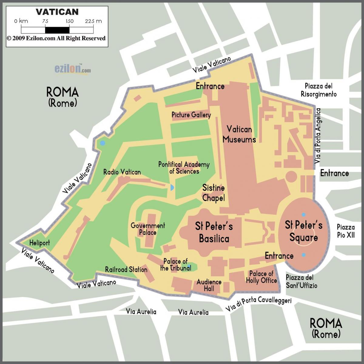 Map of Vatican entrance