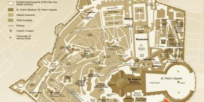 Map of excavations office Vatican city