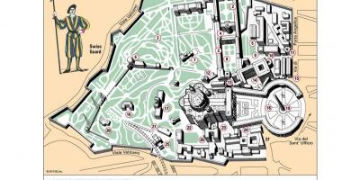 Map of Vatican museum layout